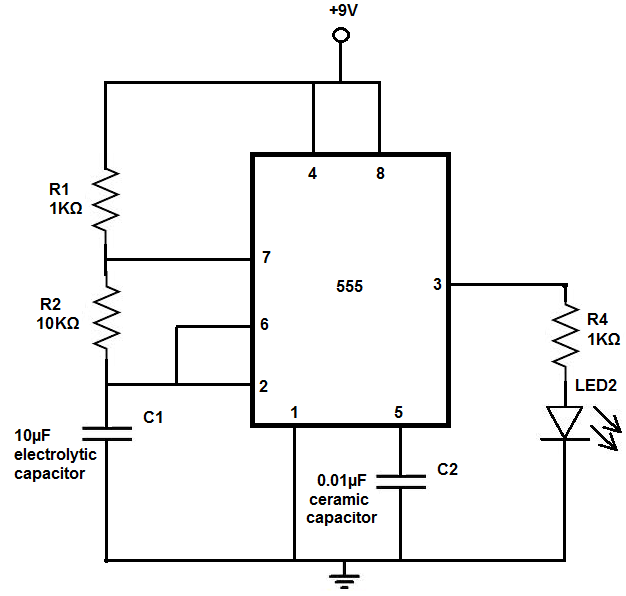 How To Build An Led Flasher Circuit With A 555 Timer Chip