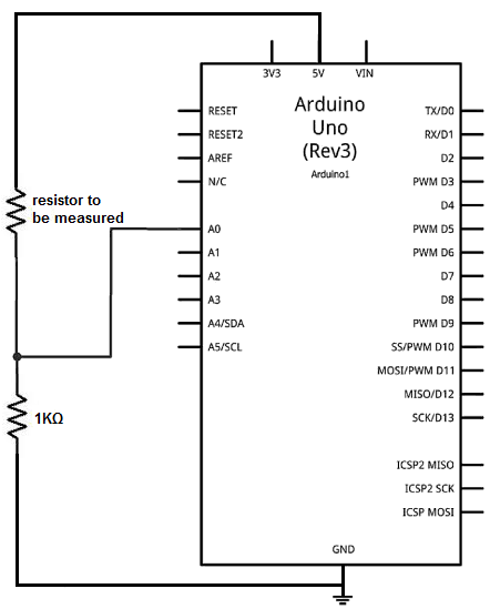 How to Build an Ohmmeter Using an Arduino Ohm Meter Schematic on